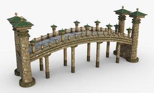 3D asian asia bridge