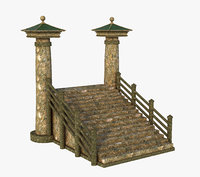3D model asian asia stair