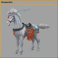 characters- tiangong military horse model