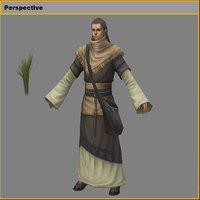 3D model characters-wang mingcao