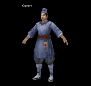 characters-west market 3D model