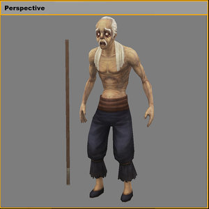 characters-king blind 3D model