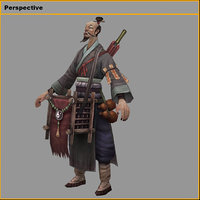 characters-bend taoist 3D