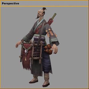 characters-bend taoist 3D
