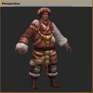 characters-tibetan ambassador model
