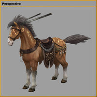 3D characters- tiangong military horse model