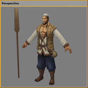 3D characters-yangjiakou boatman