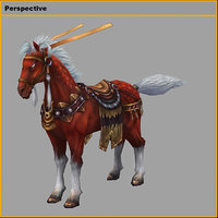 3D characters-the king horses