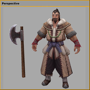 characters- villagers tuoling 3D model