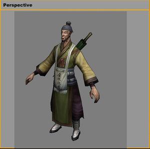 3D model characters-pilgrim 2