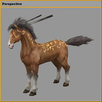 characters- tiangong military horse 3D