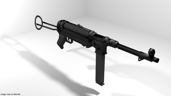 3D submachine gun mp38