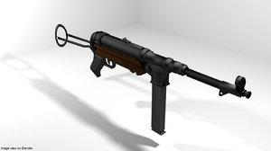3D submachine gun mp40 model