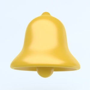 3D xmas icon bell model