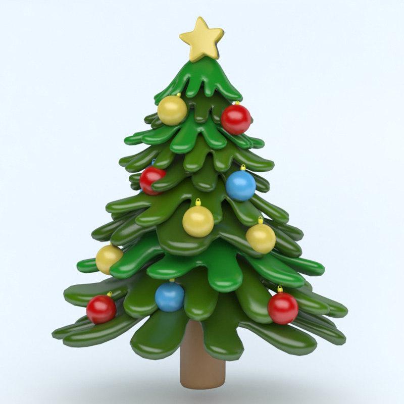 xmas icon tree 3D model