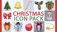 3D christmas icon model