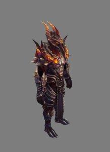 armor suit - male 3D