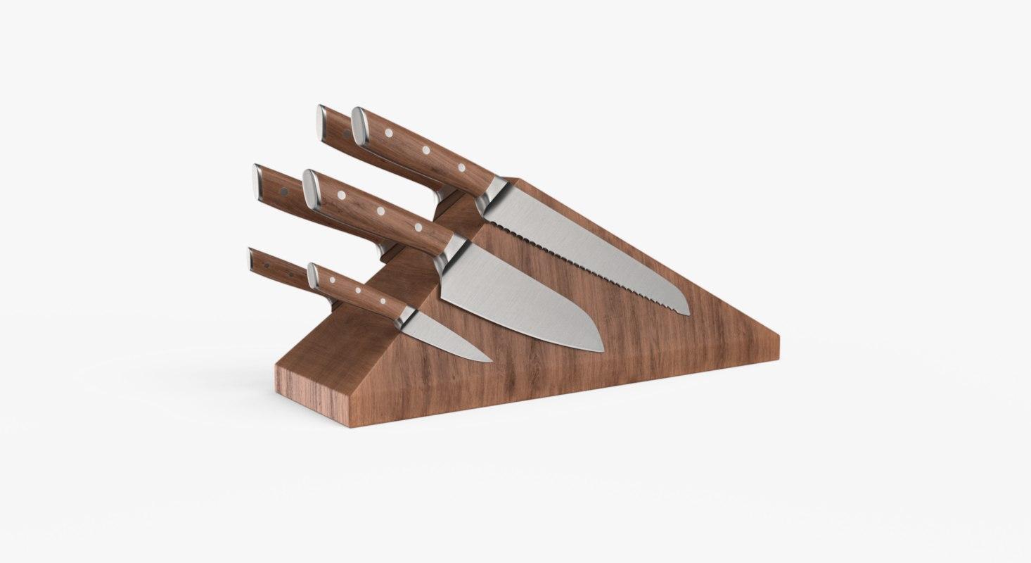 knife block 3D