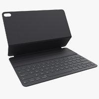 smart keyboard 12 9 3D