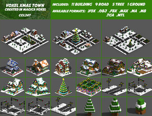 voxel pack house 3D model
