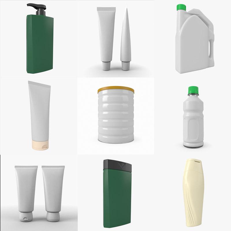 3D generic pack bottle