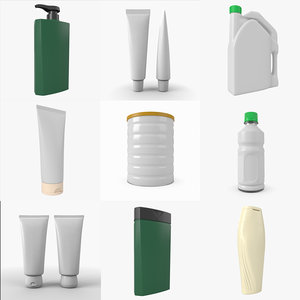3D generic pack bottle