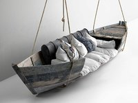 3D model hanging boat sofa