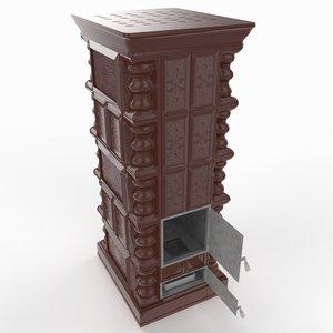 terracotta stove 3D model