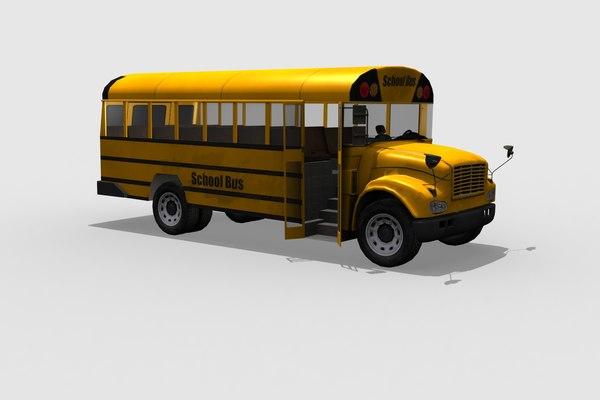 schoolbus school bus 3D