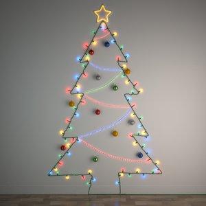 3D diy christmas light tree
