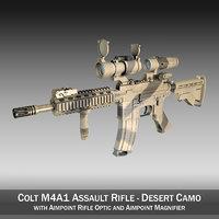 colt m4a1 sopmod aimpoint 3d model