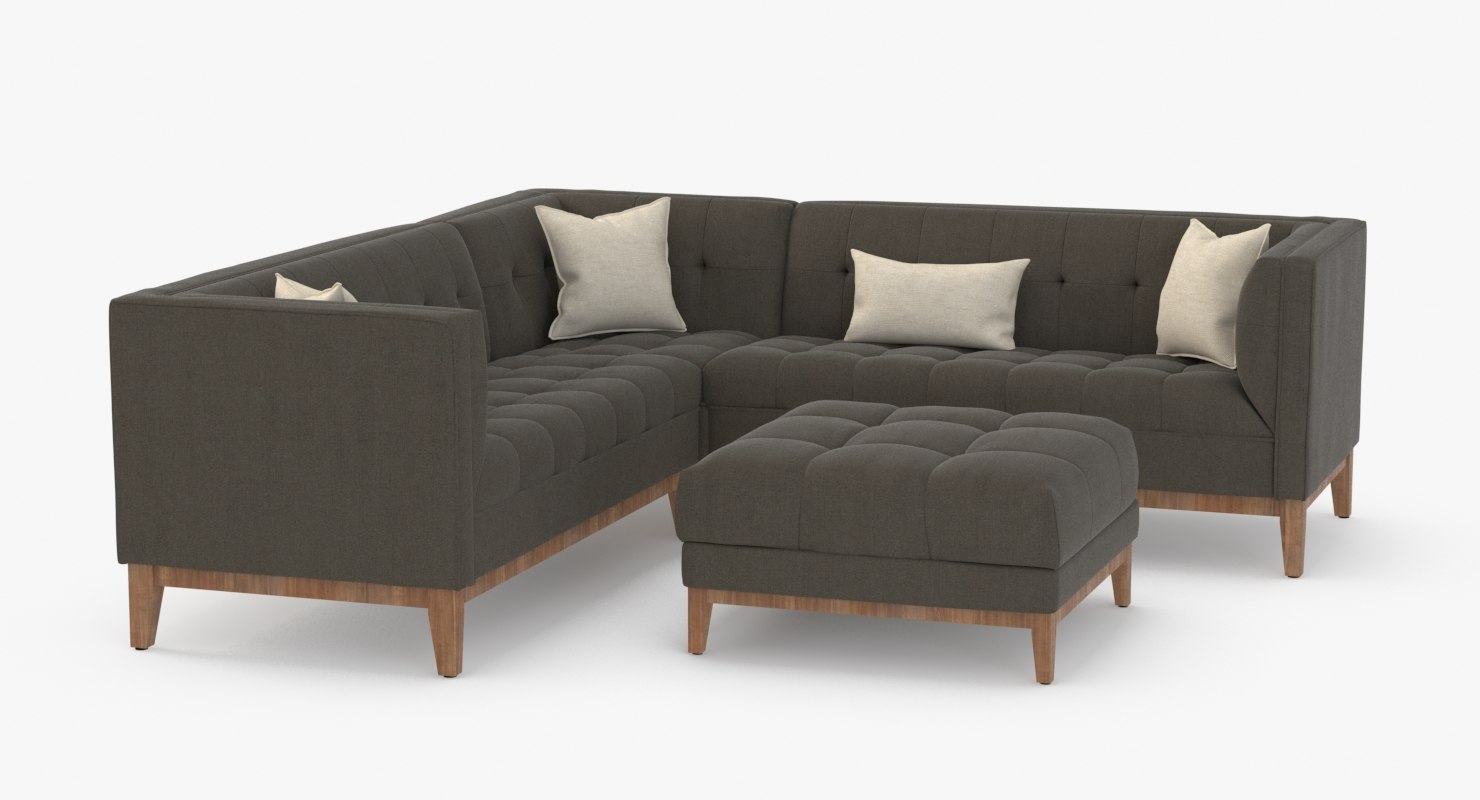 Astonishing Gus Modern Atwood Corner Sectional Sofa Home Interior And Landscaping Transignezvosmurscom