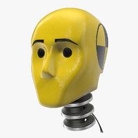 crash test dummy head 3D model