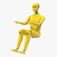 crash test dummy sitting 3D model