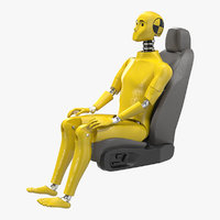 3D crash test dummy car seat