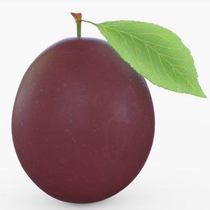3D plum fruit
