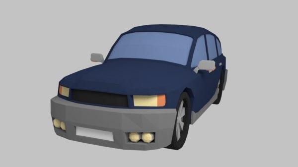 3D car suv