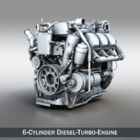 engine diesel truck 3d model