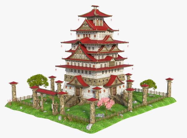 asia asian house 3D model