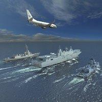 HMAS Australian Navy Scene