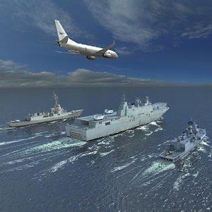 3D hmas australian navy scene