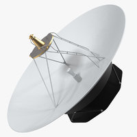 3D model parabolic antenna