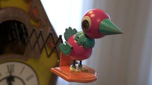 3D cuckoo clock