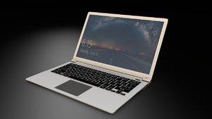 notebook laptop 3D