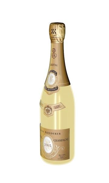 3D cristal champagne bottle