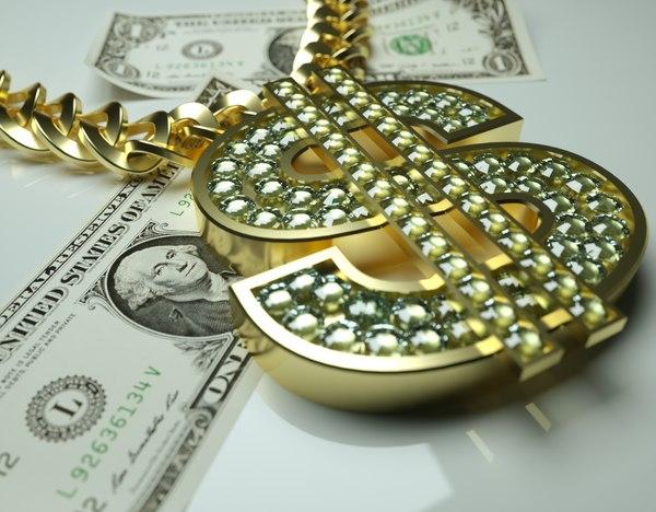 3D gold chain model