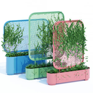pop planter trellises 3D model