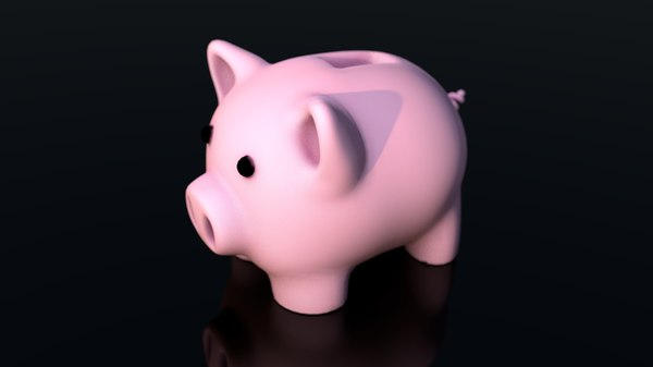 pig coin safe box 3D