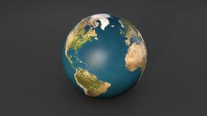 3D model earth planet globe