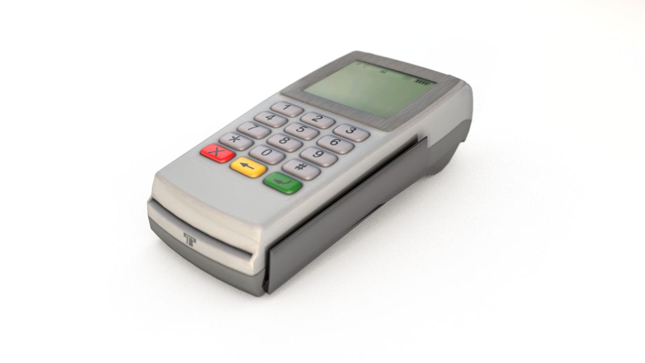 credit card machine payment 3D model